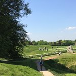 Avebury stonecircle. Big area with an inner and outercircle with many stones. Impressive.