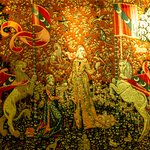 Tapestry in the back bar area