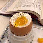 A perfect 3 minute egg at breakfast at L'Espadon