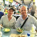 On a food tour with guests from New Zealand at Chinatown Hawker Centre