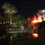 The Mirage volcano explodes