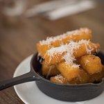 POLENTA CHIPS with truffled pecorino cheese