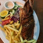 Whole fried snapper. Yum!