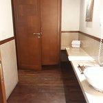 Walk in closet in bathroom within 2 bedroom suite