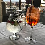 gin cocktail and aperol spritz