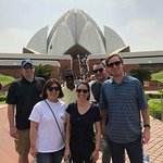 Our Travellers at lotus temple delhi
