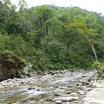 Small river flowing through rocks