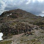 The peak of Stob Dearg straight ahead