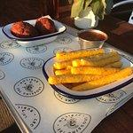 Yummy Arancini and Polenta Fries on their new menu!