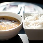 A classic, simple lentils and rice.