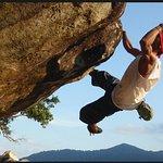 Bouldering granite in Juara village