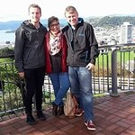 Ryan, Penny and Richard at Wellington Cable Car lookout