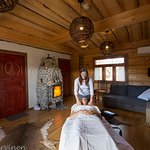 A silent massage-session after wood-heated sauna