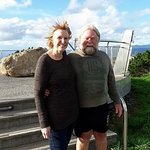 Carol and Mike (Auckland) at Mt Victoria Lookout, Wellington