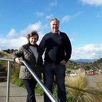 Kathy and Martin (Havelock North) at Mt Victoria Lookout, Wellington
