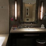 Bathroom is very modern. Hot water was plentiful when you shower.