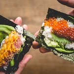 Made to order served with warm rice and crispy nori