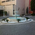 Fountain at the rear entrance