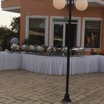 evening dining by the pool.... fantastic selection of food
