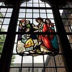 Glas in lood in het klooster