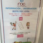 Tennis and mini golf prices