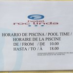 Pool opening times