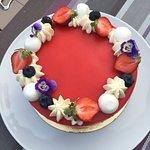 Le fraisier prêt à être dégusté !