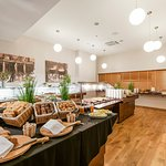 Breakfast at KLAIPEDA restaurant and gallery (AMBERTON HOTEL KLAIPEDA, 1st floor)