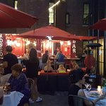 Evening patio dining when weather permits