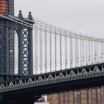 The Manhattan Bridge view from the Brooklyn Bridge