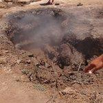 spot de boue bouillonnante