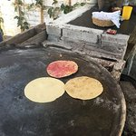 You can see the tortillas made in front of you just before your meal.