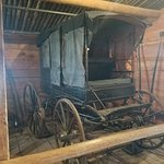 Wagon in one of the barns.