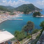 View of Parga town from the castle