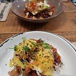 Eggs Beni and Juevos Rancheros