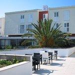 Hotel from pool balcony
