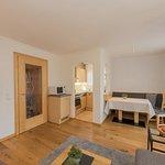 Wohnzimmer/Küche in einem Appartement