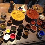 Raw pigments used to create paints in Rembrandt's studio