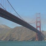 Great views of the Golden Gate Bridge as we exited and entered the bay. Photo by Ioana Seritan.