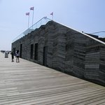 This is the only building on the pier, the rest is open space