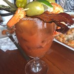 Had to share this picture of the Weekend Brunch Bloody Mary at Schooners ... was fabulous!!!!