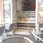 Inngangen til cafeen i San Fernando