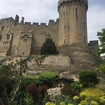 View of Warwick Castle at Mill Garden.