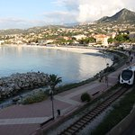 Don't worry about the train, it is the Balagne touristic train and only goes by a couple times a