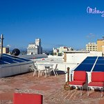Roof top had 3 satelite dishes but no tv in room!!
