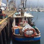 Santa Barbara wharf fishing boats
