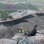 Climbing bisotun wall, Kermanshah Iran.