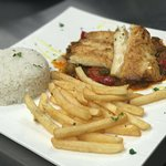 Cod fillet with our secrect Vizcaína sauce