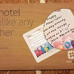 Hand-written notes from angels of Hotel ICON