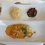 Hotel Joly: dos de cabillaud sauce crustacés
